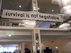 SURVIVAL IT IS NOT NEGOTIABLE