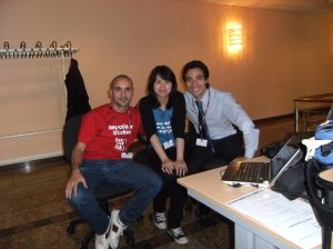 Me, Summer and Marco at the conference in Bonn. Me, Summer e Marco alla conferenza di Bonn.