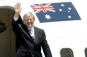 Prime Minister Rudd currently in Europe to talk climate change