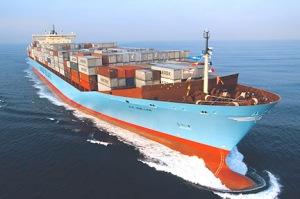 Le Maersk, plus gros porte-containers au Monde
